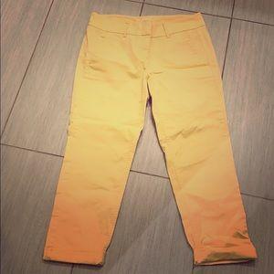 Loft Yellow crop pants! So cute 💕